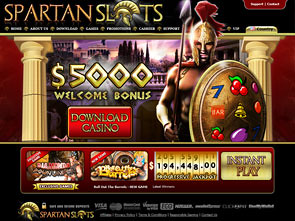 Spartan Slots Casino Home