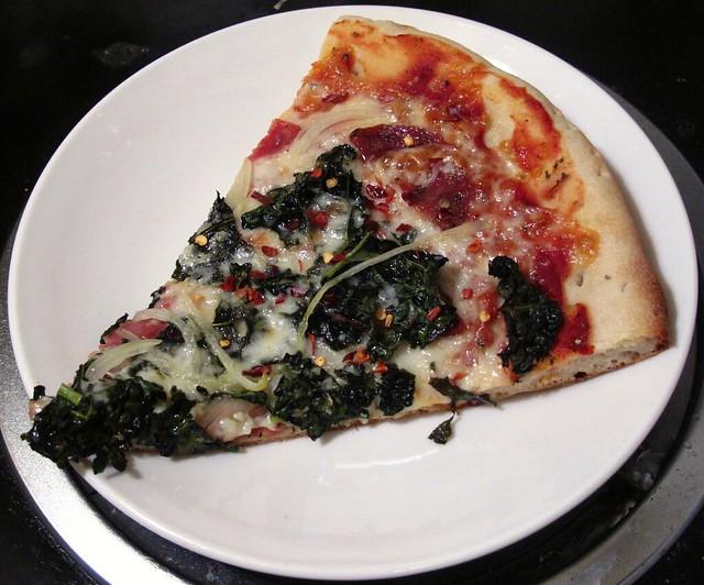 Kale & Salami Slice
