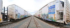 Heaven In a Handbasket (208 Bench) Tags: art yard train graffiti paint king yme boxcar express graff ich freight reefer chilled king157 armn rtm