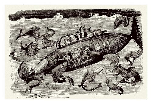 023-Las grandes cacerias submarinas-Le Vingtième Siècle 1883- Albert Robida