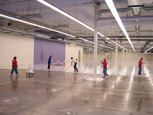 Floor coating process