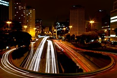 Rush Hour | So Paulo (. Marzo | Photography .) Tags: city longexposure cidade night rebel downtown traffic sopaulo centro sp noturna rush noite rushhour nocturne longaexposio viaduto viadutodoch saopaulobynight t2i gettyimagesbrasil spbynight