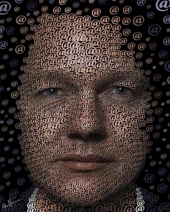 arrobas para formar rostros humanos