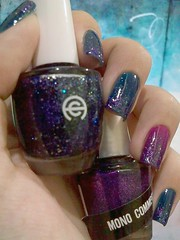 deep sky (gimimimi) Tags: blue azul glitter purple hits nailpolish roxo 378 esmalte colorama noitequente