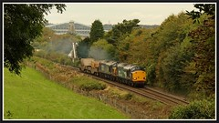 6K41 Belmont. 7th. October (peterdouglas1) Tags: 6k41 directrailservices class37 37069 37259 valleyflasks belmonttunnel northwalescoastrailway menaibridges