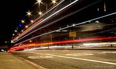 London's lights (stefanobarabino) Tags: uk 1855mm capitalcity lighttrail longexposure thecity londonbridge traffic light night london canon 1200d