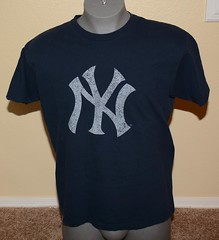 NY Yankee NY Tee shirt from the 70's (itstayedinvegas-4) Tags: newyorkyankees graphicteeshirts bronxbombers baseball mlb americanleague