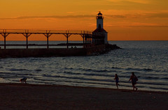 Beach Sunset Michigan City Indiana 9-20-2016 8932 (www.cemillerphotography.com) Tags: washingtonpark gambling sundown dusk recreation evening midwest
