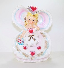 Relpo Valentine's Day Queen of Hearts Southern Belle Planter (filigreefairy) Tags: relpo valentinesday queenofhearts madeinjapan ceramic vintage planter southern belle