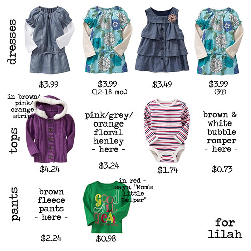 lilah's old navy finds