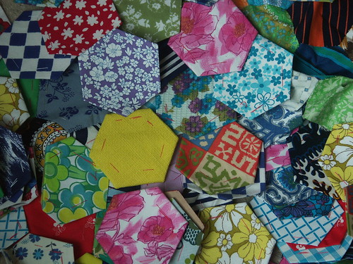 Vintage hexagons