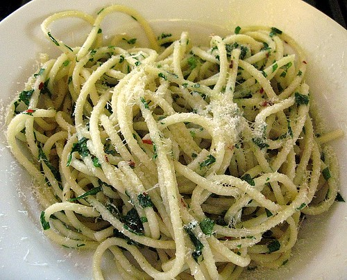 Pasta with Garlic, Olive Oil, and Parsley or Aglio e Olio