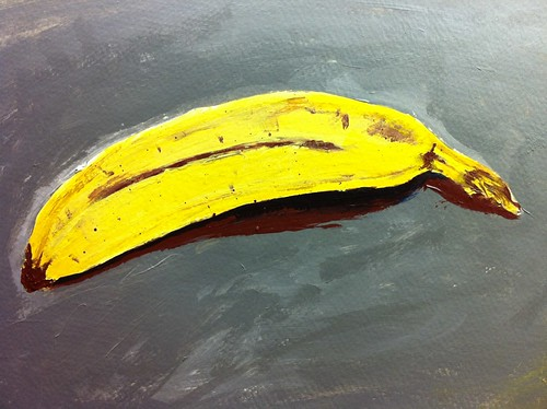 banana painting-close