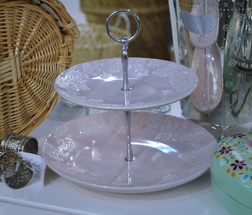 Lisbeth Dahl rose cake stand with paisley pattern