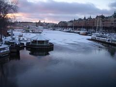 Three star resturant (lenlysen) Tags: winter ice water is vinter sweden stockholm vatten strandvgen 2011 lysen lysn