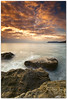 ligurian dawn (chris frick) Tags: longexposure sunset sea italy seascape rocks dusk liguria tripod wideangle boulder shore lee gitzo mediterraneansea ballhead albenga fiters canonef1635mmf28liiusm chrisfrick canoneos5dmark2 09gndsoft alassion
