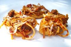 Spaghetti Garlic Crostini (Creative Kitchen) Tags: dinner recipe italian recipes spaghetti appetizers crostini foodblogfoodblogspaghetticrostini
