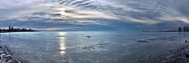 Téli panoráma a Balatonról