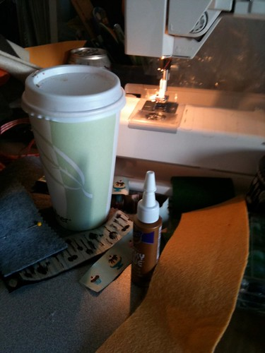 Coffee Cozy: workroom