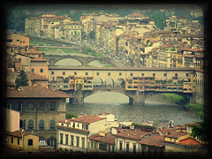 View from the Hill (maula jat) Tags: italy texture florence pontevecchio viewfromthehill seasonalaffectivedisorder fakettv