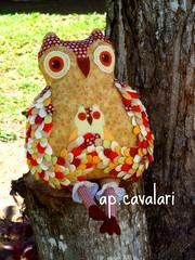 Owlflia 3, vai subir a serra... (AP.CAVALARI / ANA PAULA) Tags: quilt owl coruja feitoamo anapaulacavalari apcavalari alfomada