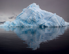 Pyramid of Ice (Christopher DiNottia) Tags: ocean voyage trip cruise light sea wild vacation sky cliff cold color art ice beach nature wet water birds animals rock trek canon outdoors coast boat fly frozen interesting intense sand marine scenery waves mood quiet peace tour escape sink earth south tide hill sightseeing salt deep wave peak antarctica tourist spray glacier mount explore journey valley environment remote iceberg penquin aquatic wilderness powerful crevasse investigate frontier wander southpole amaze crag godly foriegn