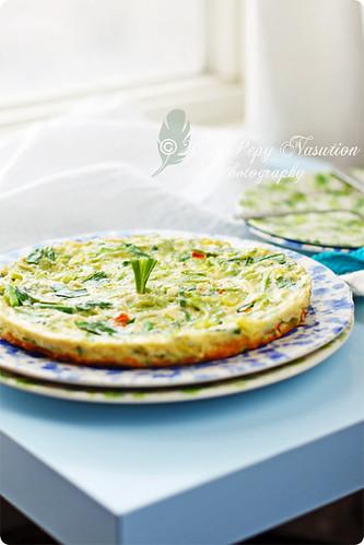 Bitter Melon Omelette 2/2