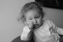Bored (Campanero Rumbero) Tags: she cute face kid colombia bogota day child room bored linda rostro supershot