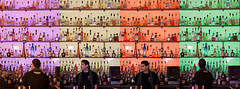 Seeing Quadruple (Michelle in NY) Tags: orange green glass colors bar lights beige louisiana colorful purple bottles neworleans drinks alcohol nola bourbonstreet bartender canoneos5d michellegreene michelleinny wwwmichelleneacycom michelleneacygreene