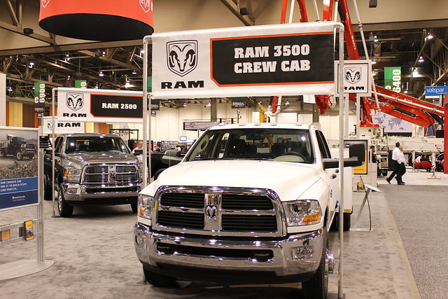 world show las vegas truck concrete cab duty pickup center crew commercial convention chassis ram heavy trade 3500 2011