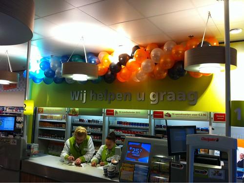 Ballonslinger Supermarkt Rotterdam Overschie