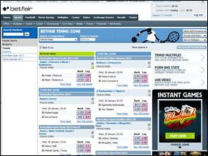 Betfair Sportsbook Lobby