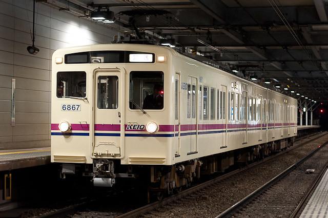 京王電鉄6000系 6417F 錆取回送
