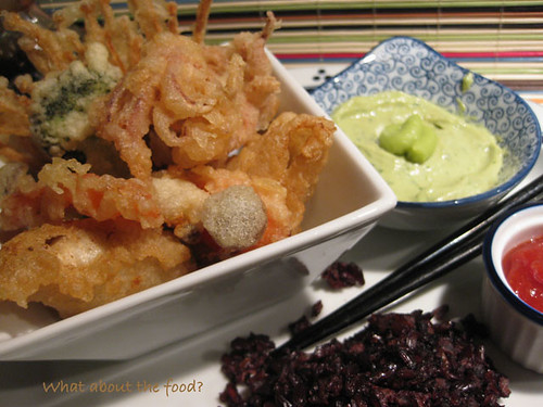 Tempura with Black & Mahogany Rice