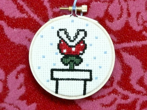 Piranha Plant Crosstitch