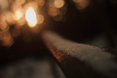 There is a light at the end (Knieanarchist) Tags: light canon eos bokeh rail grlitz 7d nocrop cliche meyeroptik orestegon extremedof