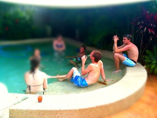 Chillaxing by the pool, Happy Australia day 2011 #iPhoneography