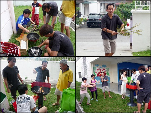 Rumah Hope outing - preparing the BBQ