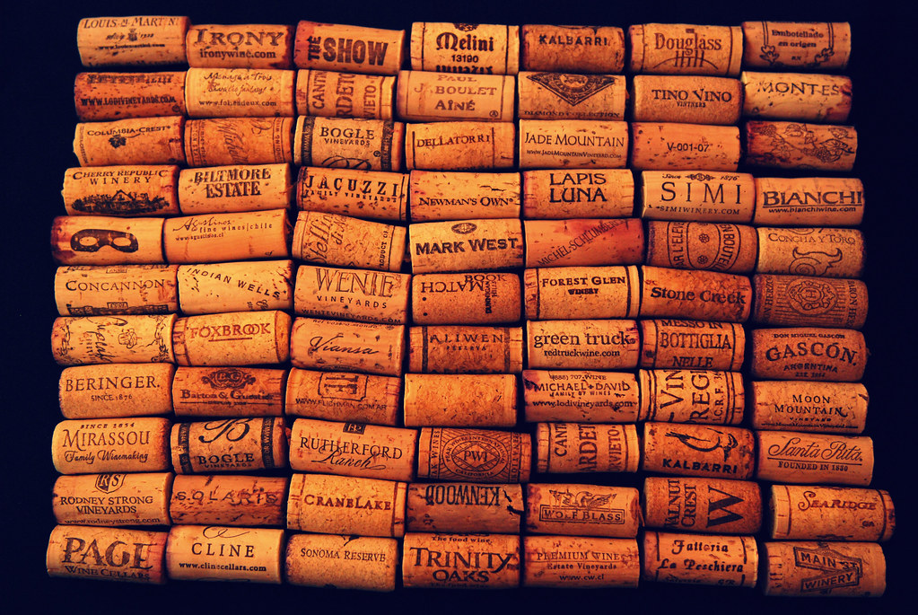 A sampling of my wine cork Collection