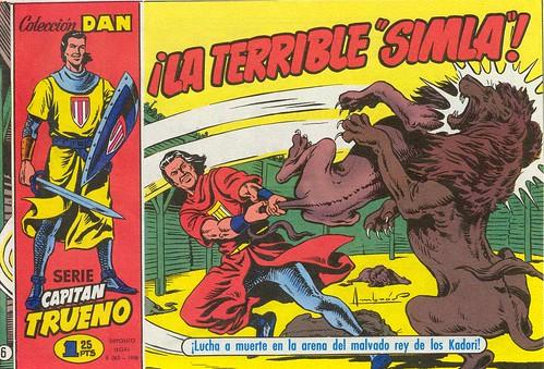 033-El Capitan Trueno nº 6-portada-1956