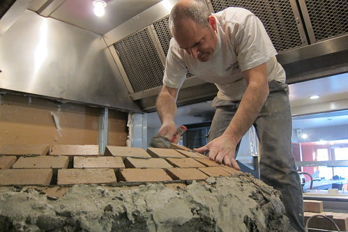 Sotto: Pizza Oven Being Built