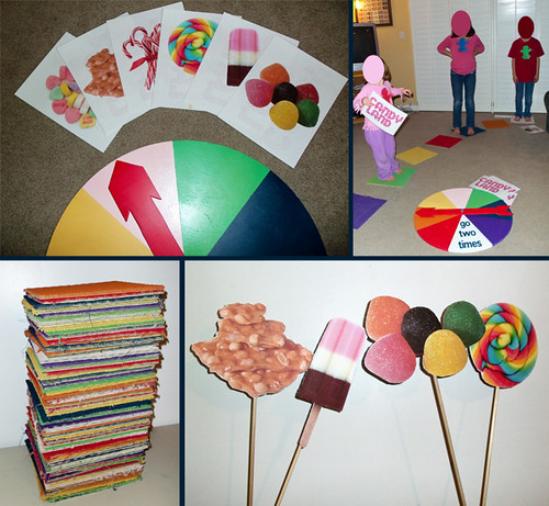 full size candy land game yard stakes