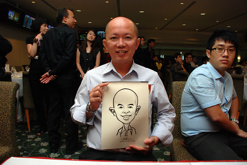 caricature live sketching for Thorn Business Associates Appreciate Night 2011 - 16