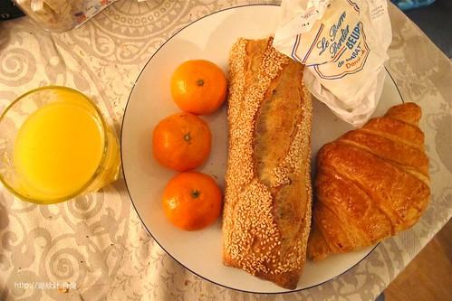 巴黎 Eric Kayser 麵包店早餐
