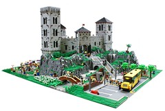 Medieval Castle Today (Matija Grguric) Tags: city castle lego soccer fair medieval knights diorama moc matijagrguric