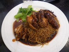 Soya Sauce Chicken on Dry Noodles $8.50 [Singapore Chom Chom, City]