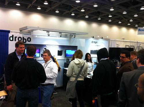Drobo Macworld 2011 booth