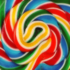 Whirly Pop (Mary Vican) Tags: circle dessert colorful yum candy bright sweet vibrant stripe lick retro round swirl lollipop multicolored hue bold oldfashioned whirlypop