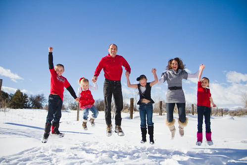 Cheri and Sterling Allan's family jumpshot