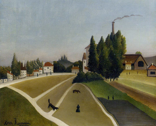 Henri Rousseau:  Landscape with factory (1896-1906) by petrus.agricola